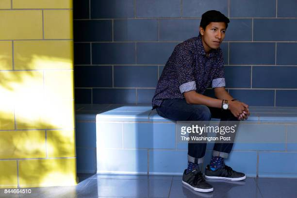 Deferred Action for Childhood Arrivals recipient and Davidson College student Tony Solis poses for a portrait at William Jones Preparatory High...