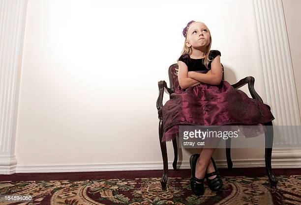 Defiant Young Girl in Party Dress