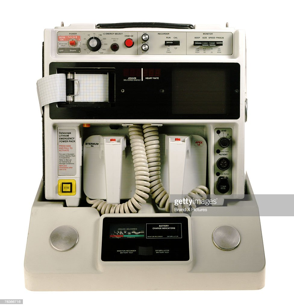 Defibrillator with electrocardiogram : Stock Photo