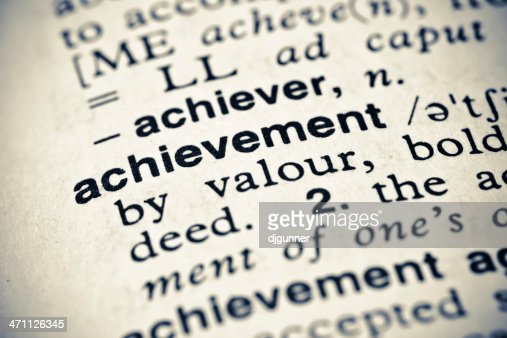 Definition: Achievement : Stock Photo