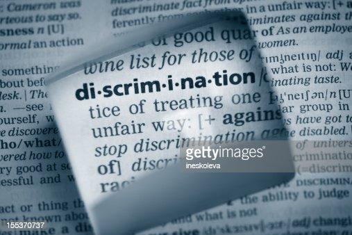 Definition 'discrimination'