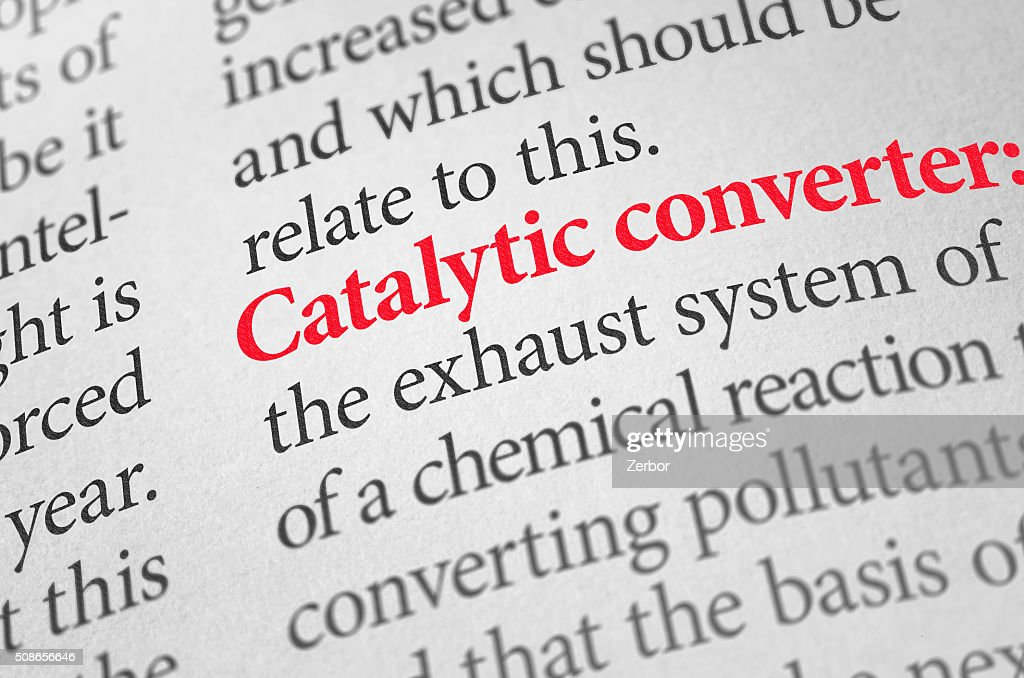 Definition of the word Catalytic converter in a dictionary : Stock Photo
