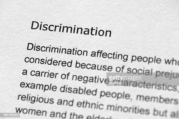 Définition du terme de discrimination
