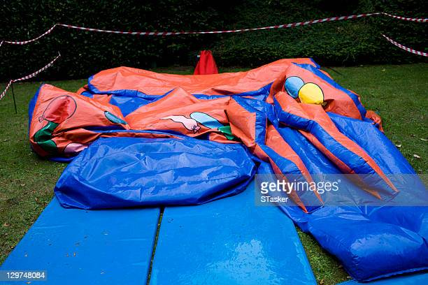 Deflated bouncy castle