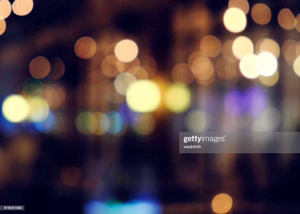 defocused bokeh light, abstract background at night photo : Foto de stock