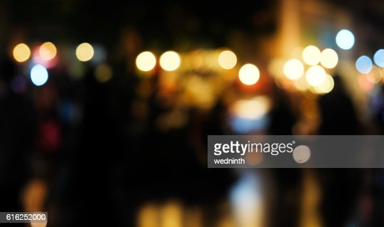 defocused bokeh light, abstract background at night photo : Foto de stock