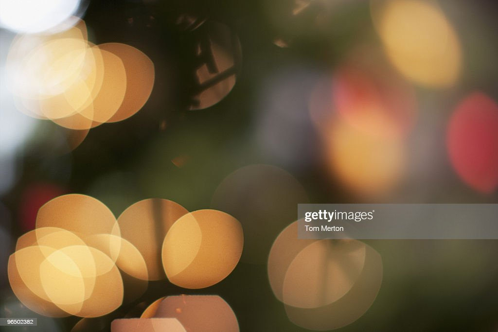 Defocused Christmas tree : Stock Photo