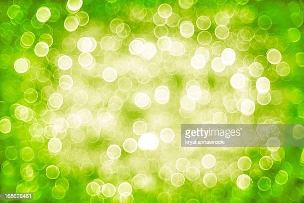 Defocused green lights