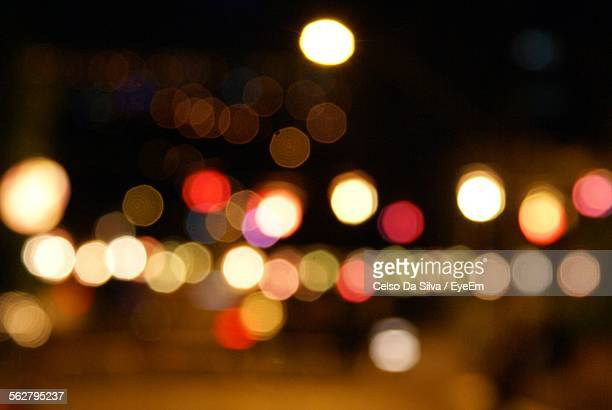 Defocused Image Of Christmas Light