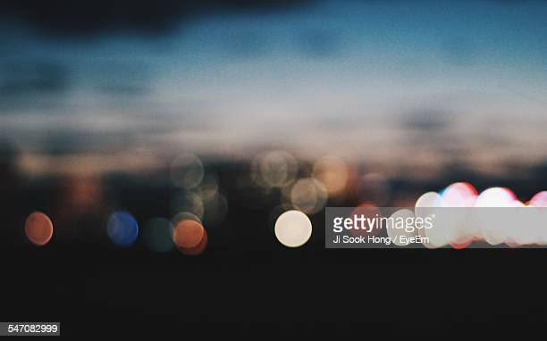 Defocused Image Of City Lights At Night