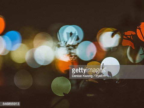 Defocused Image Of City Lights