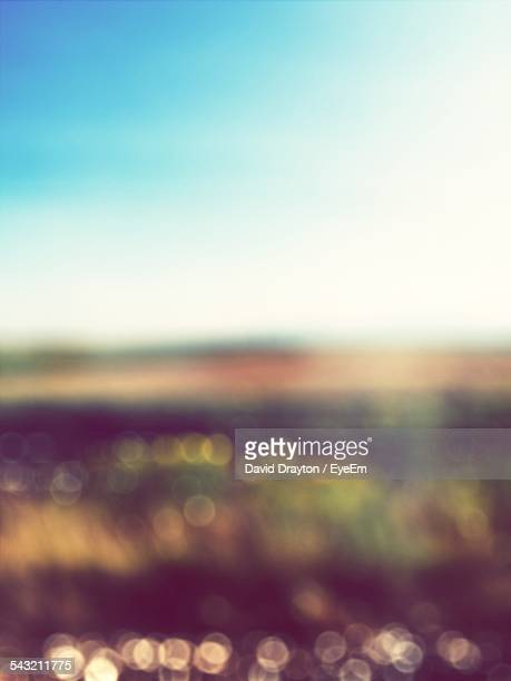 Defocused Image Of Landscape Against Sky