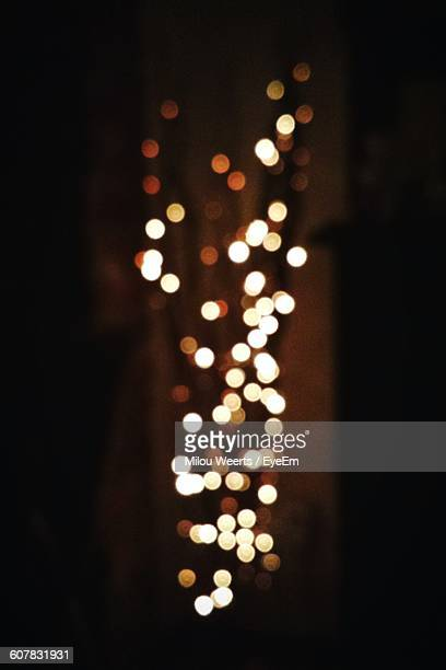 Defocused Image Of Lighting Equipment At Night