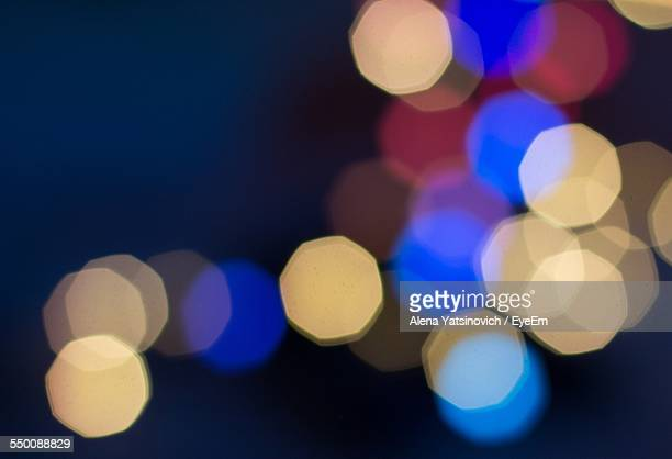 Defocused Image Of Multi Colored Spotlights