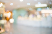 Defocused image of shopping mall