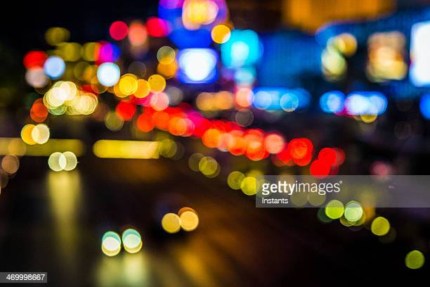 Defocused Las Vegas Strip