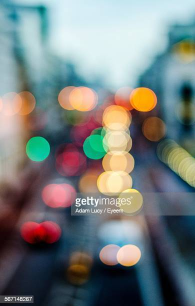 Defocused Lights On Street Of City