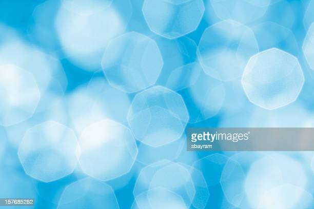 defocused soft blue lights