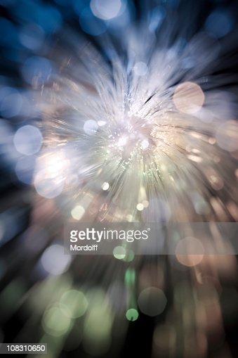 Defocused sparkle of fiber optic lights : Stock Photo
