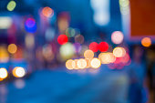 Defocused street lights