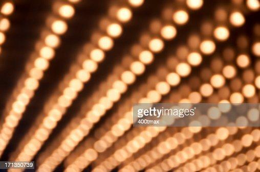 Defocused Theater Marquee lights