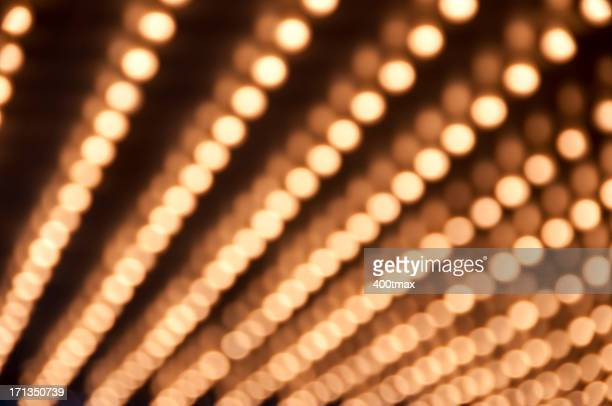 Defocused Theater Marquee lights
