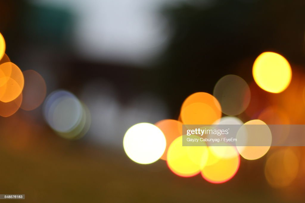 Defocused View Of City Street