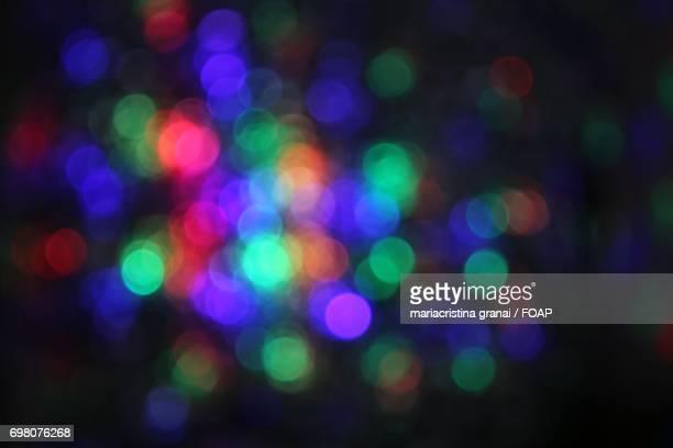 Defocused view of colorful lights