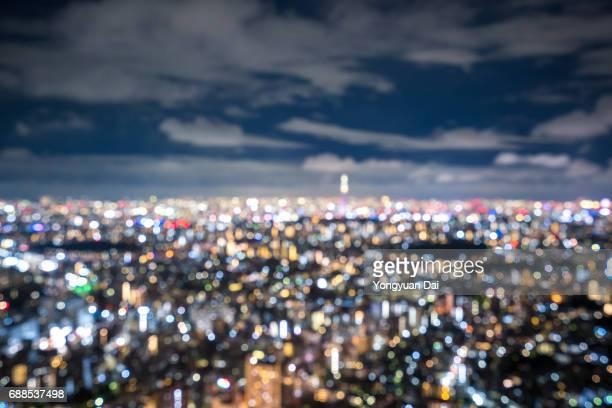 Defocused View of Tokyo at Night