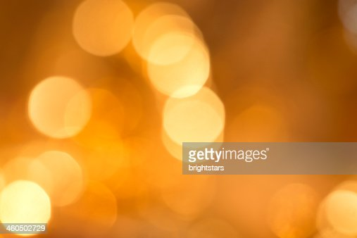 Defocused yellow lights