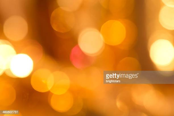 Defocused yellow lights