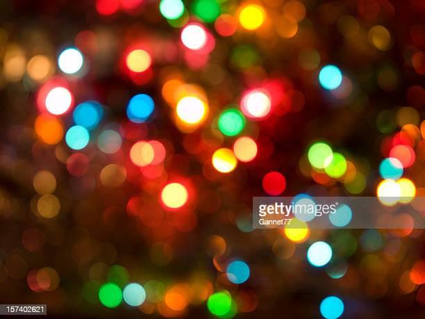 Natale luci Defocussed