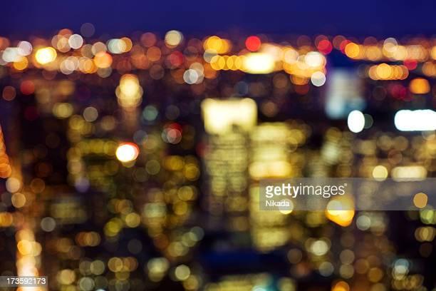 Defocussed Lichter der Stadt