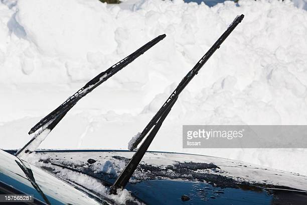 Defrosting Windshield Wipers on a Car