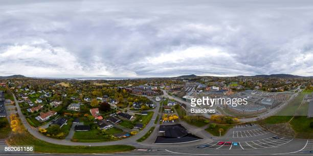 360 degree aerial view of Asker center, Norway