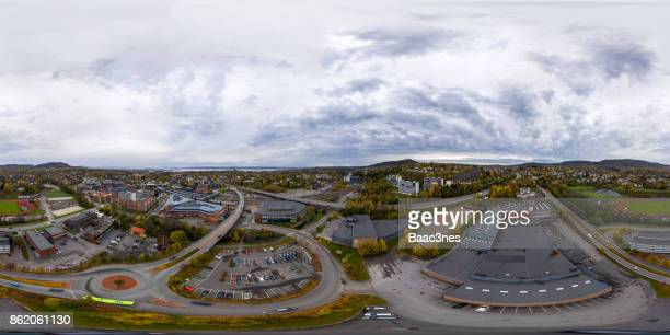 360 degree aerial view of Asker, Norway