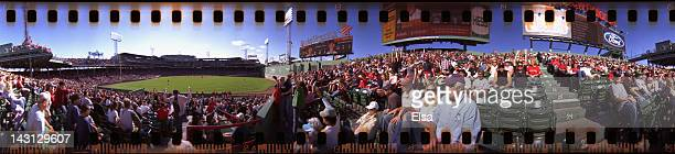 A 360 degree view from the bleacher seats during the game between Boston Red Sox and the Baltimore Orioles on September 19 2011 at Fenway Park in...