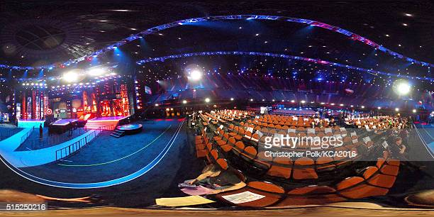 A 360 degree view inside The Forum just before the start of Nickelodeon's 2016 Kids' Choice Awards on March 12 2016 in Inglewood California