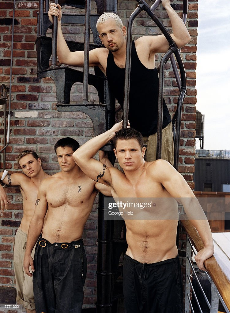 98 Degrees (Nick Lachey, Drew Lachey, Justin Jeffre & Jeff Timmons); 98 Degrees by George Holz; 98 Degrees, Teen People, September 1, 1999; New York; New York.