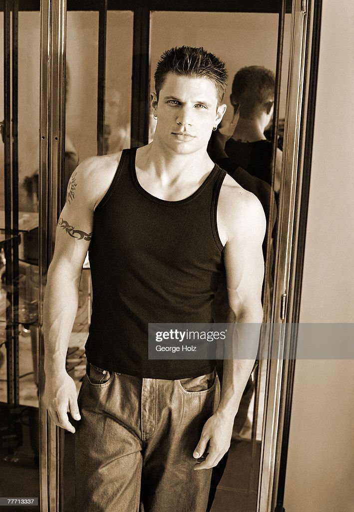 98 Degrees (Nick Lachey); 98 Degrees by George Holz; 98 Degrees, Teen People, September 1, 1999; New York; New York.