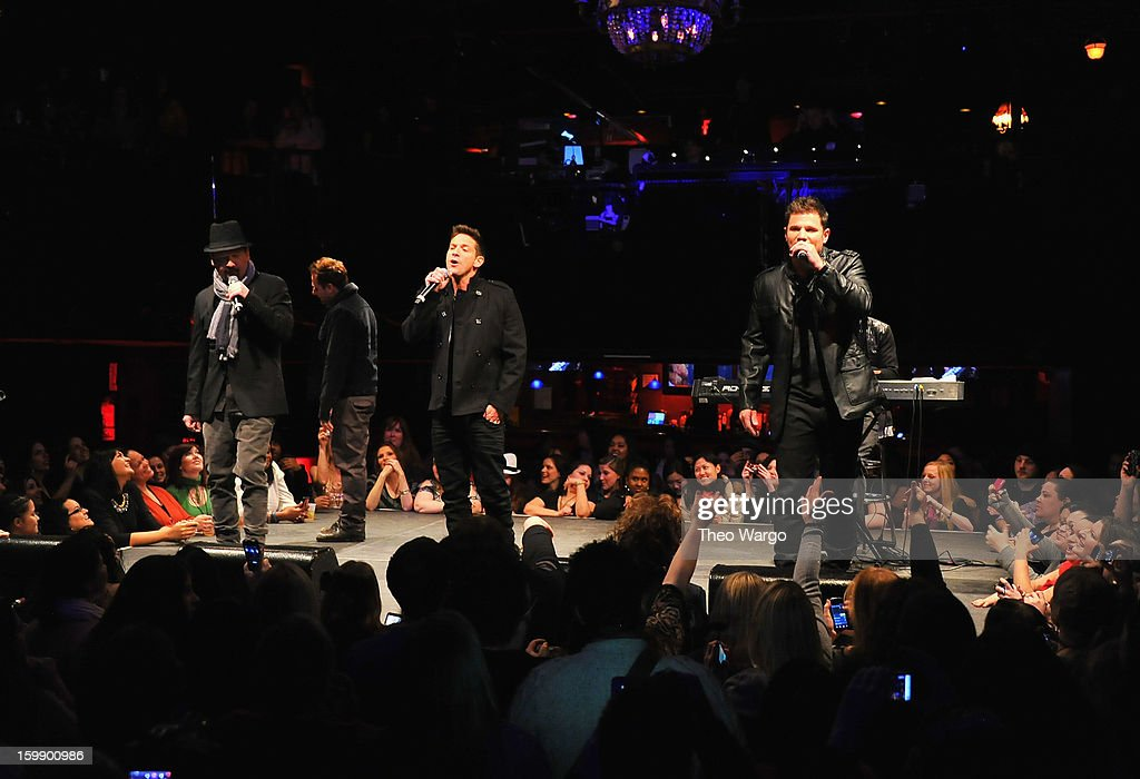 98 Degrees perform during upcoming tour announcement at Irving Plaza on January 22, 2013 in New York City.