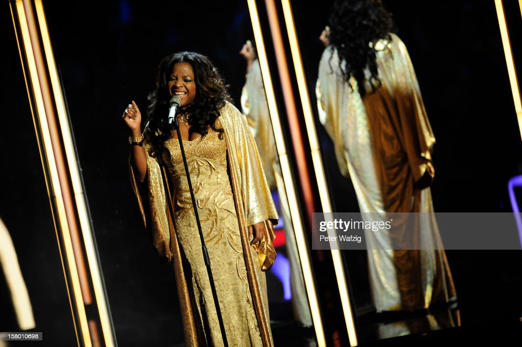 Deidra Jones performs during the 'Das Supertalent' Semi Finals on December 08, 2012 in Cologne, Germany.