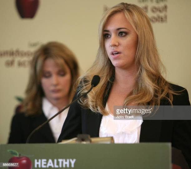 Deidre Hall and Andrea Bowen attend a press conference regarding the Child Nutrition Promotion and School Lunch Protection Act at the Reserve...