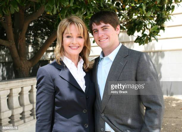 Deidre Hall and her 16yearold son David Sohmer attend a press conference regarding the Child Nutrition Promotion and School Lunch Protection Act at...