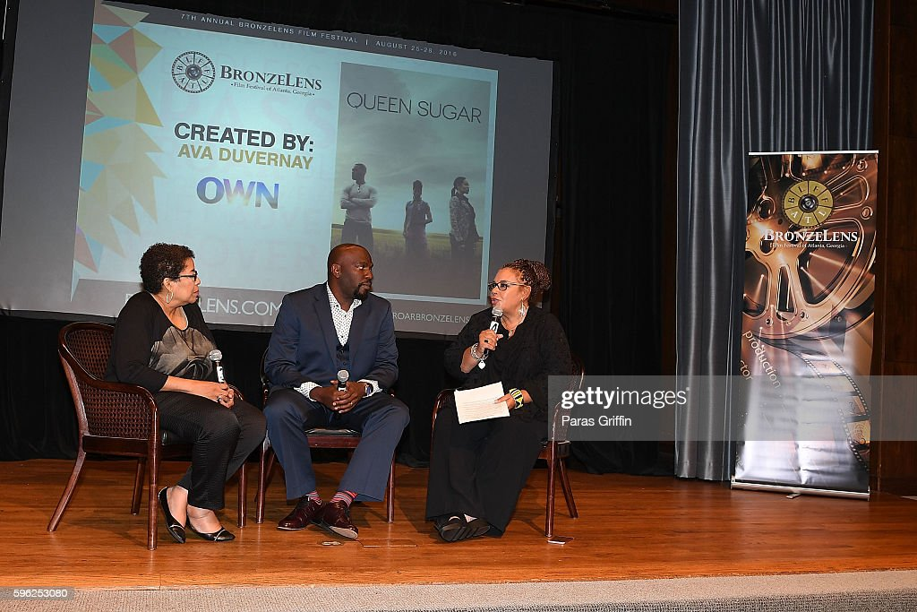 Deidre McDonald Omar Dorsey and Neema Barnette on stage at 2016 BronzeLens Film Festival OWN TVÕsÊQueen Sugar special screening at Georgia Pacific...