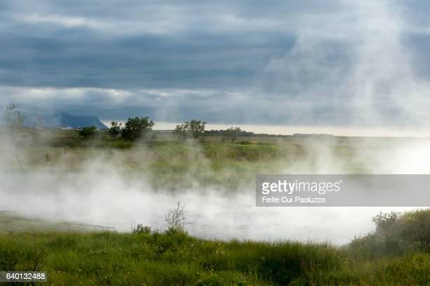 Deildartunguhver hor spring at  Reykholtsdalur of Western Region of Iceland