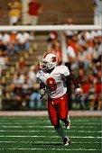 Deion Branch of the Louisville Cardinals runs against the Illinois Fighting Illini on September 22 2001