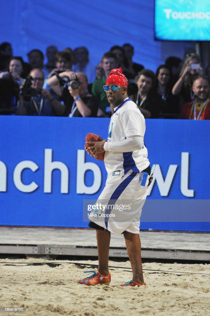 Deion Sanders attends DIRECTV'S Seventh Annual Celebrity Beach Bowl at DTV SuperFan Stadium at Mardi Gras World on February 2, 2013 in New Orleans, Louisiana.