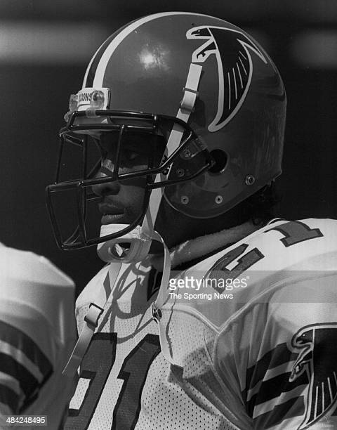 Deion Sanders of the Atlants Falcons looks on circa 1990s