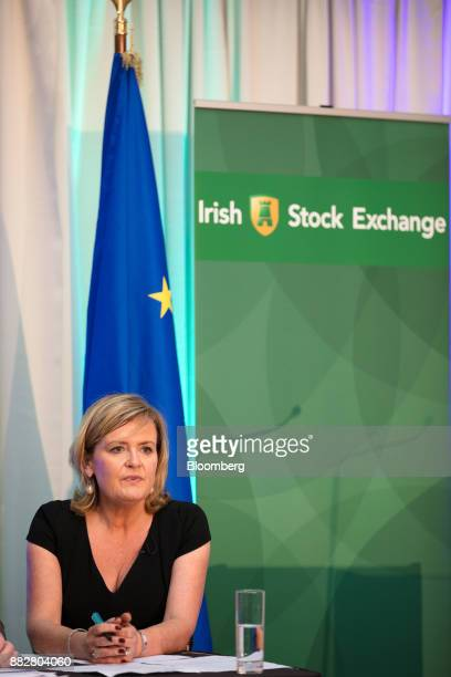 Deirdre Somers chief executive officer of Irish Stock Exchange Plc speaks during a news conference at the Irish Stock Exchange in Dublin Ireland on...